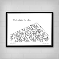 Think Outside the Cube Poster