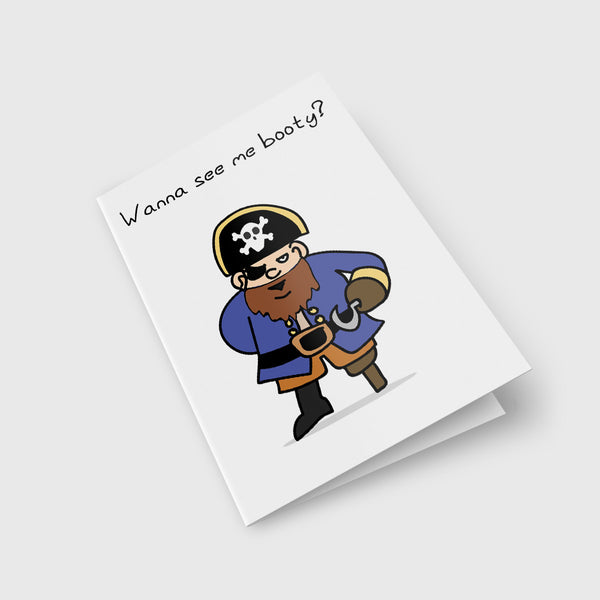 Pirate Booty Greeting Card
