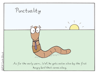 Punctuality Demotivational Poster
