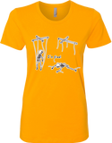 Free Skeleton Puppet Ladies' Tee