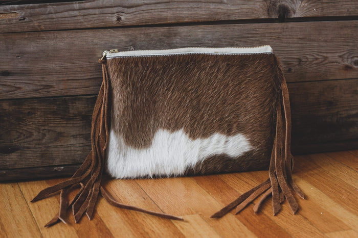 Hair on Hide Cowhide clutch
