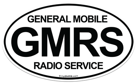 Euro-Style Oval Magnet GMRS - myGMRS.com