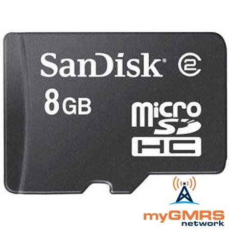 SanDisk 8GB MicroSD Card (myGMRS Network) - myGMRS.com