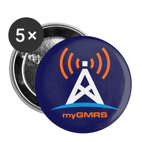 Small Buttons 1'' (5-pack) - myGMRS.com