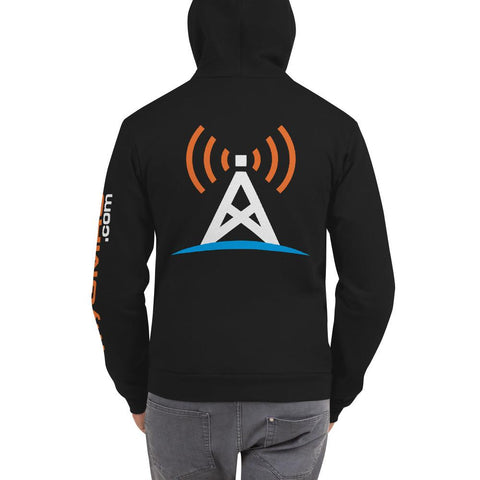 Zippered Hoodie Back and Sleeve Print - myGMRS.com