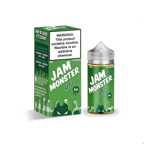 100ml Jam Monster Fruit Monster E-liquid(25PG/75VG)-E-Liquid-Jam monster-Apple-3mg-SmokDaddy