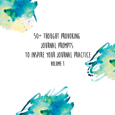 50+ Thought Provoking Journal Prompts Vol. 1
