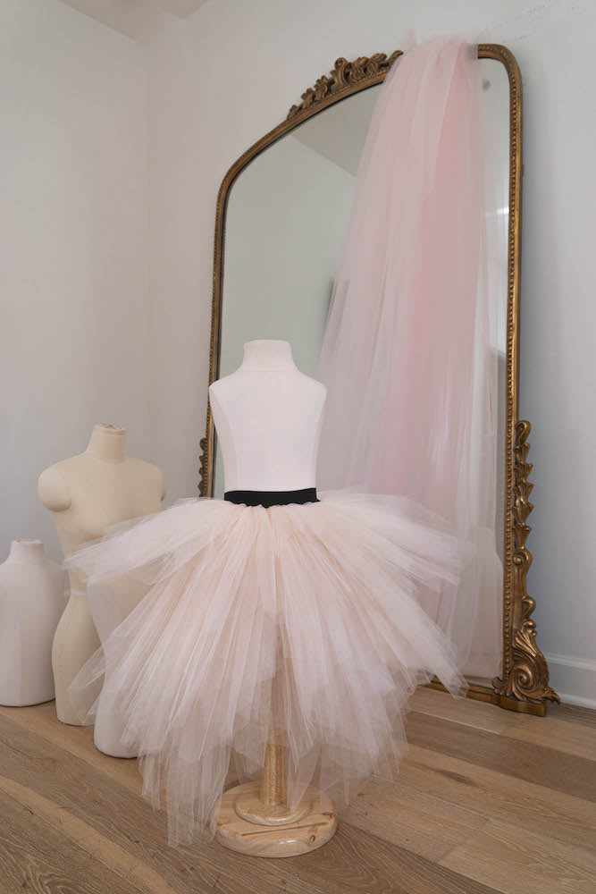 The Princess in powder pink - Flowers and Ruffles