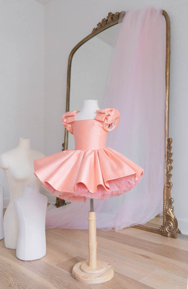 Doll in soft pink - Flowers and Ruffles