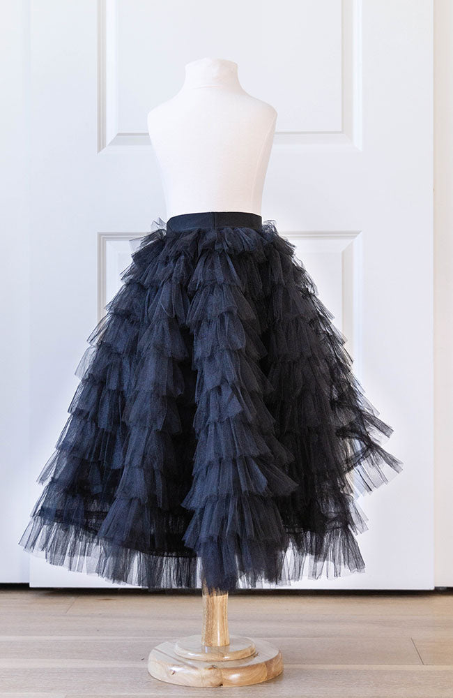 Clara skirt in black - Flowers and Ruffles