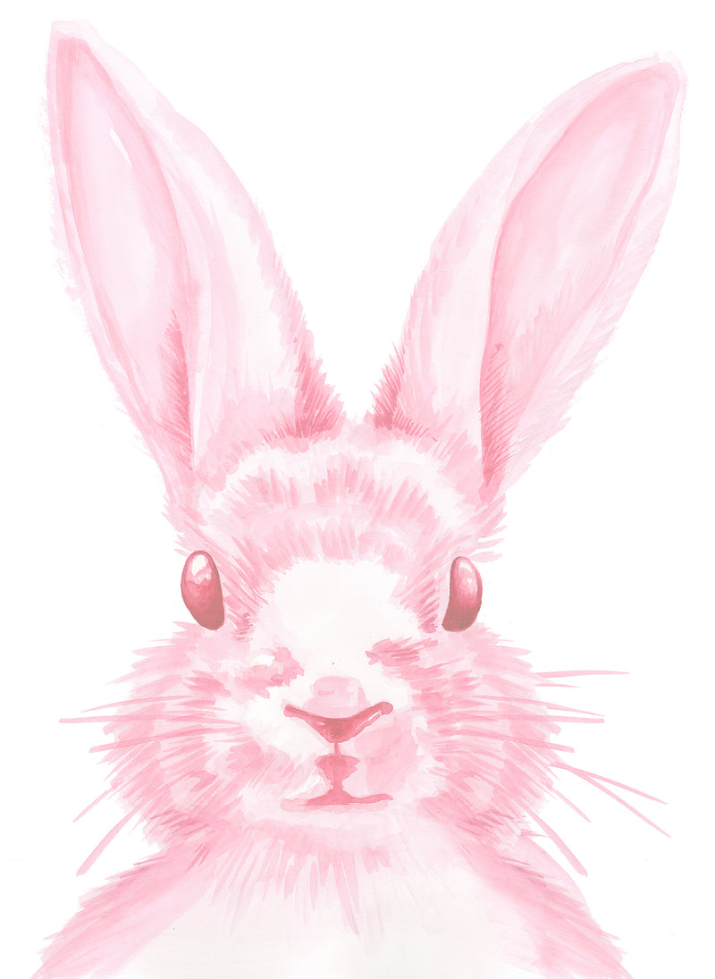 Pink Bunny Wall Decal by Cling™ - Flowers and Ruffles