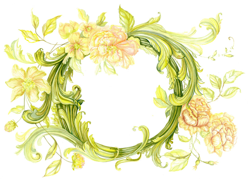 Vine Flowers Wall Decals by Cling