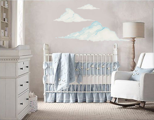 Cloud Wall Decals for Baby Room Nursery