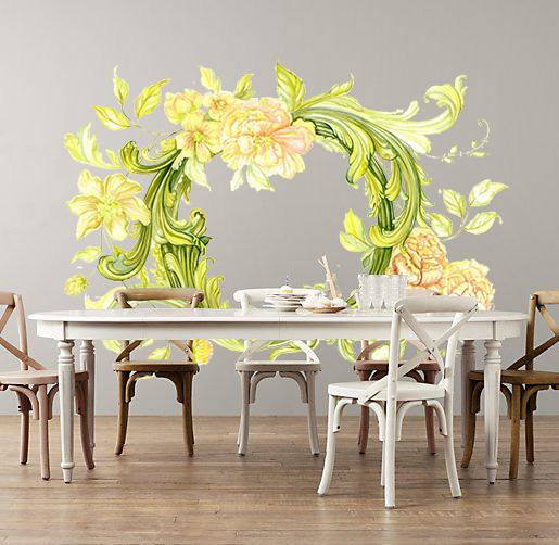 Vine Flowers Wall Decals by Cling™ - Flowers and Ruffles