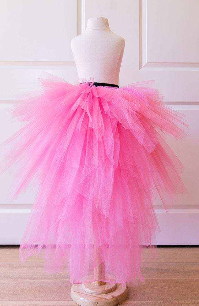 Candy Pink Snowflake skirt - Flowers and Ruffles