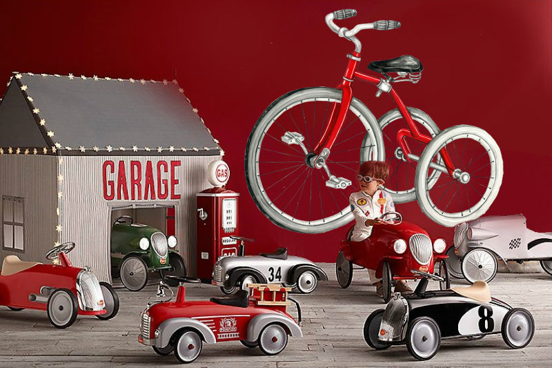 Red Vintage Bicycle Wall Sticker for a play room