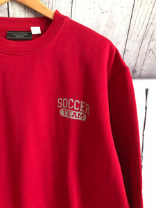 Sweat rouge Soccer