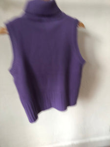 Pull sans manches mauve (Taille S)