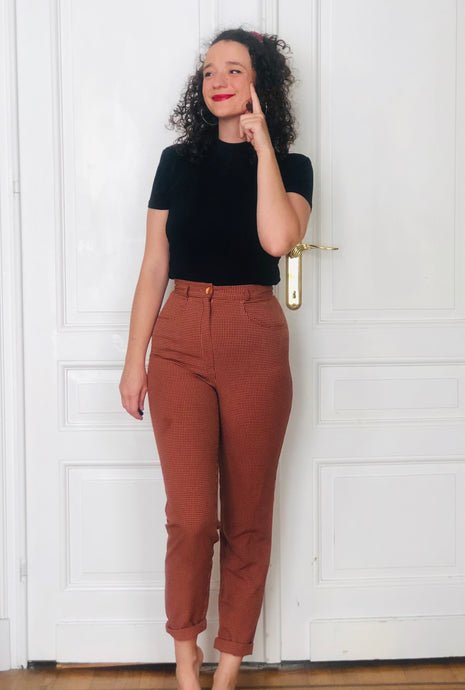 Pantalon à carreaux