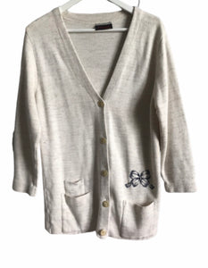 Gilet long beige chiné
