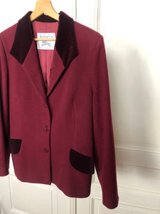 Veste bordeaux « Burberry »