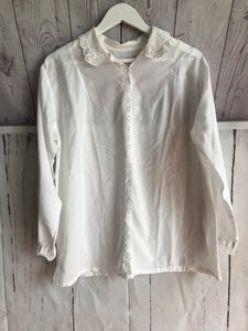 Chemise blanche broderie anglaise