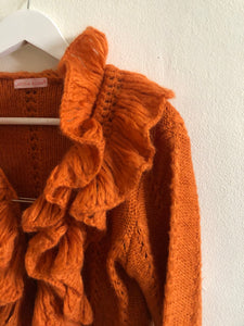 Cardigan orange « Laëtitia Rosa »