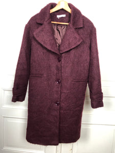 Manteau en laine bordeaux