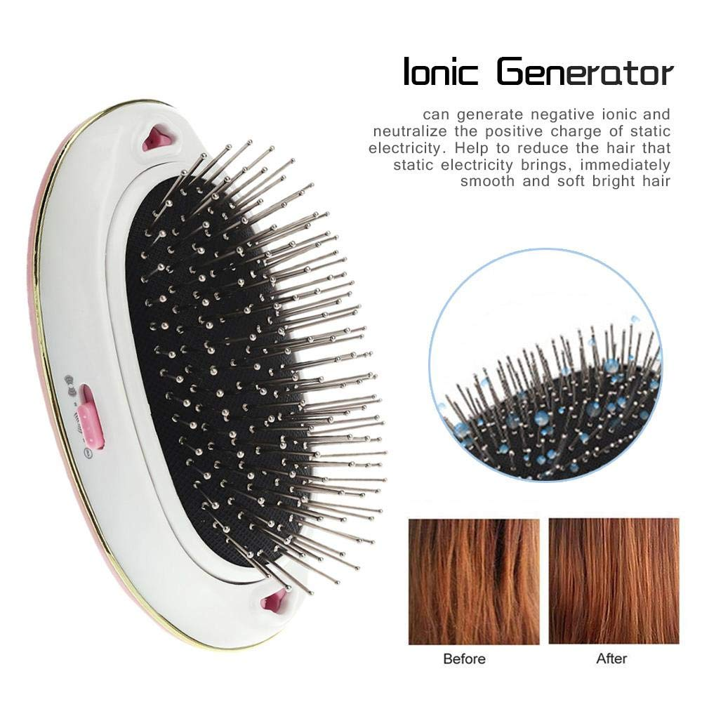 Electronic Portable Straightener Hairbrush for Curly Hair