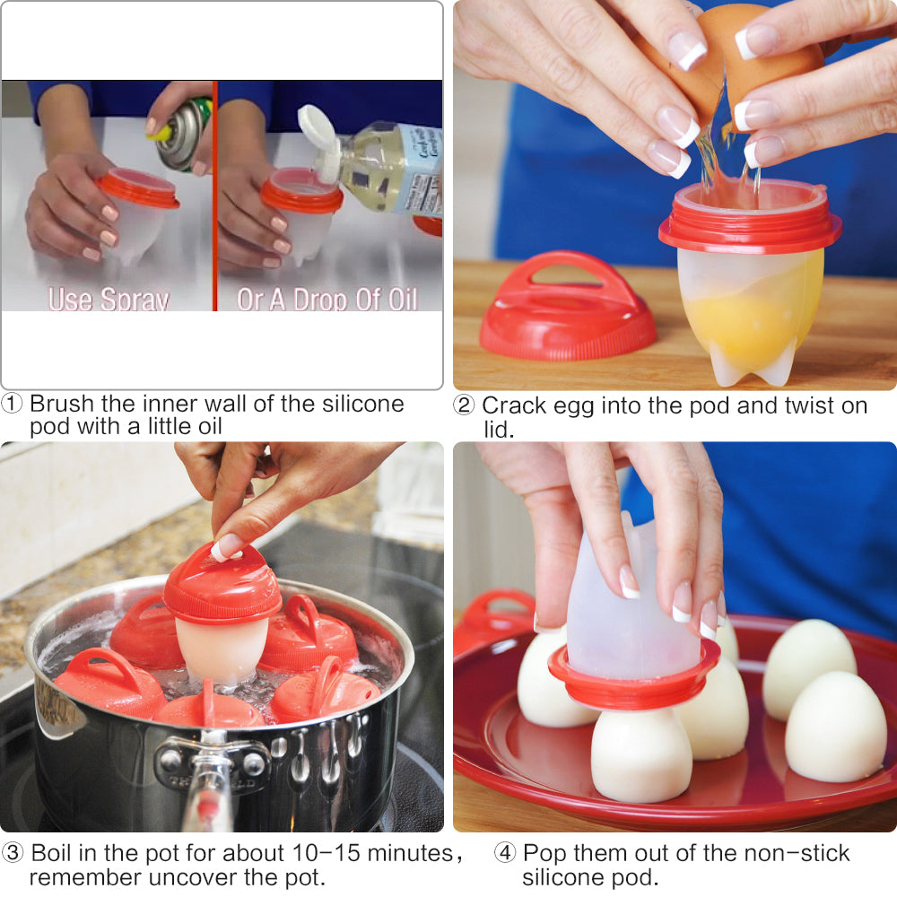 Silicone Egg Boiler (Pack Of 6)