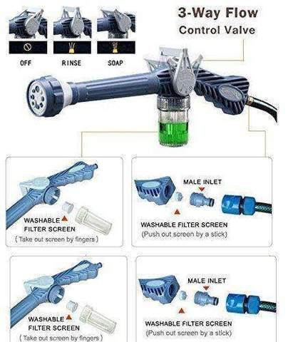 8 In 1 High Pressure Water Gun