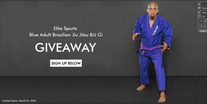 Elite Sports Blue Adult Brazilian Jiu Jitsu Gi Giveaway