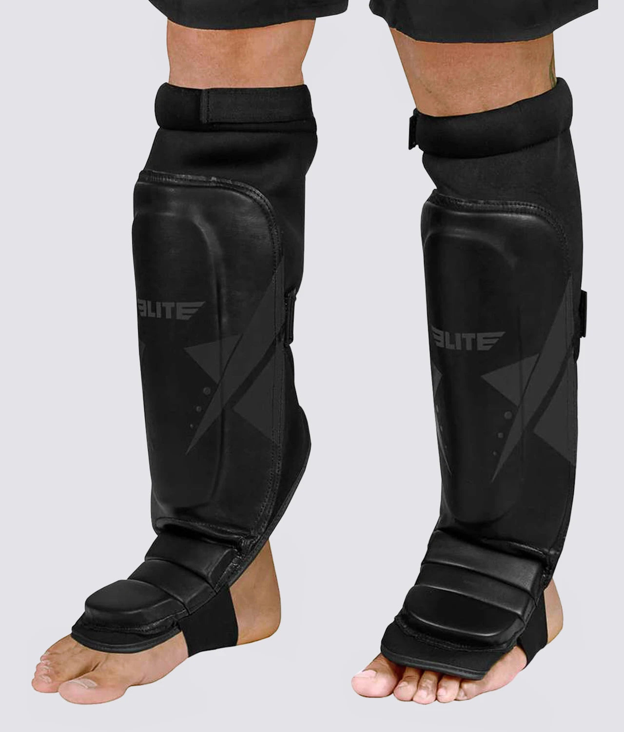 Elite Sports Star Series Black/Black Muay Thai Shin guards