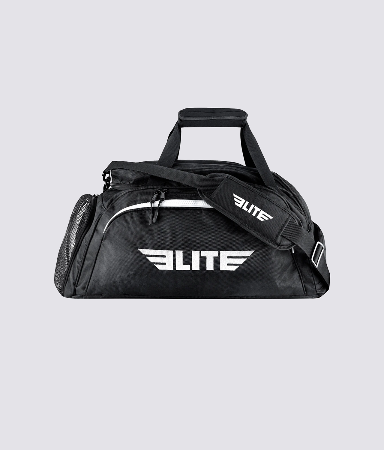 Elite Sports Warrior Series Black Large Duffel MMA Gear Gym Bag & Backpack