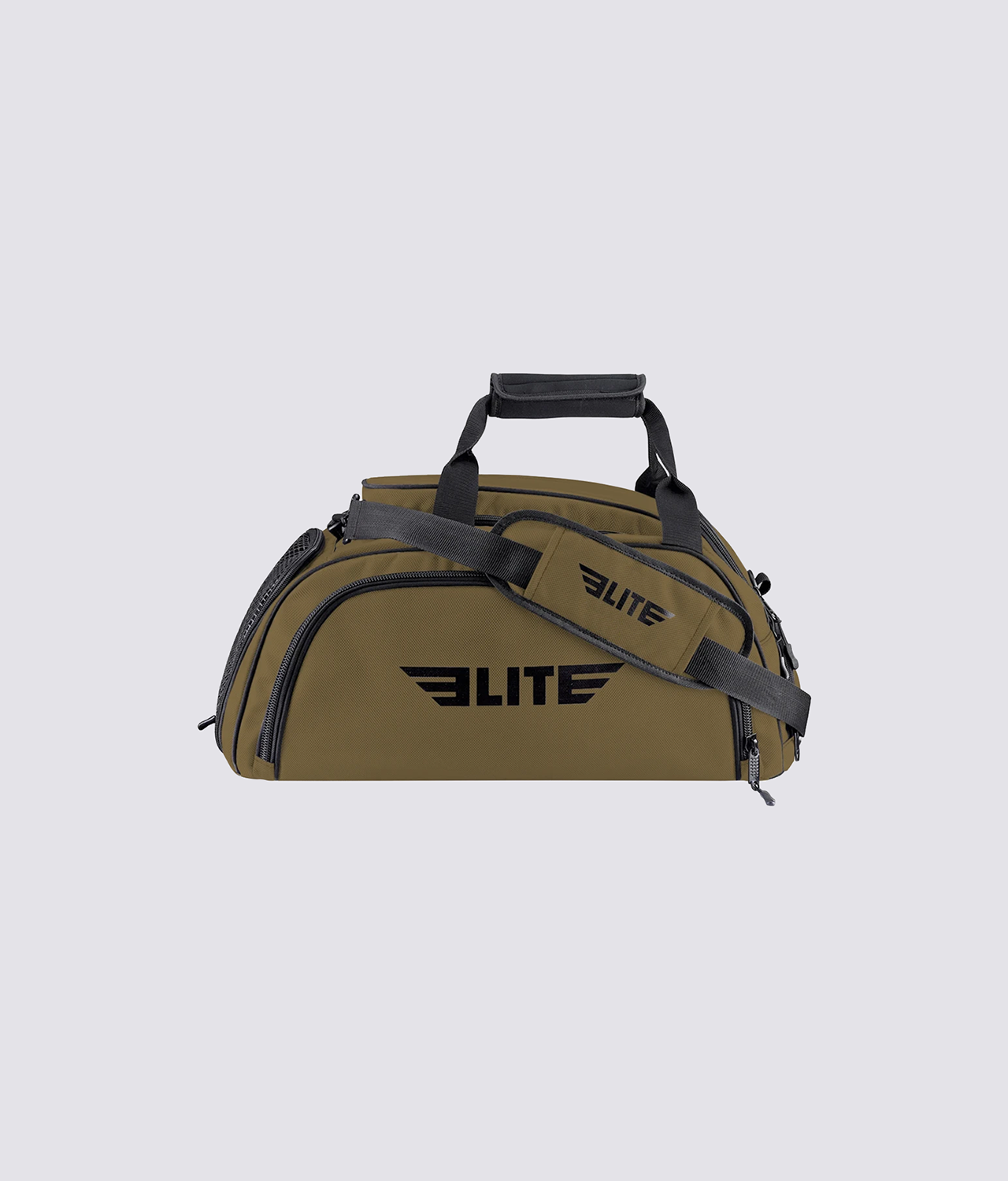 Elite Sports Warrior Series Khaki Large Duffel Muay Thai Gear Gym Bag & Backpack