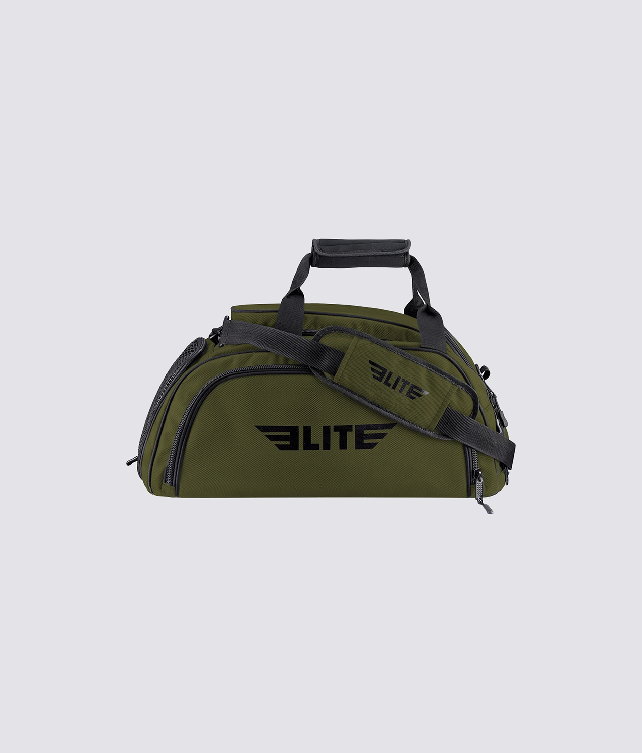 Elite Sports Warrior Series Military Green Large Duffel Muay Thai Gear Gym Bag & Backpack