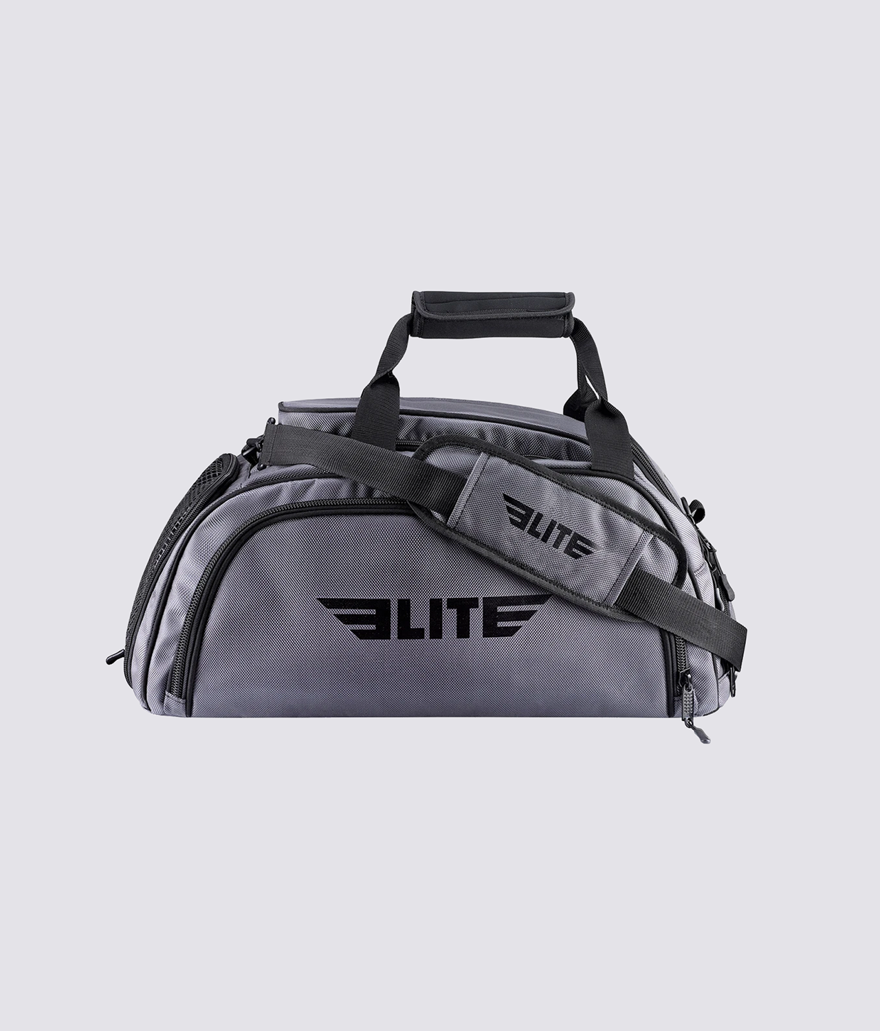 Elite Sports Warrior Series Gray Large Duffel MMA Gear Gym Bag & Backpack