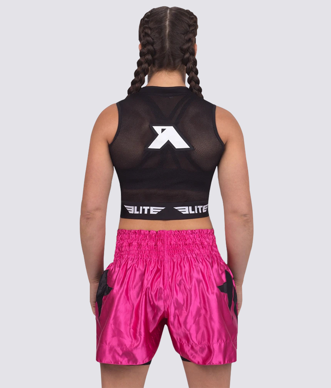 Elite Sports Visibility Breathable Black Women Training Crop Top