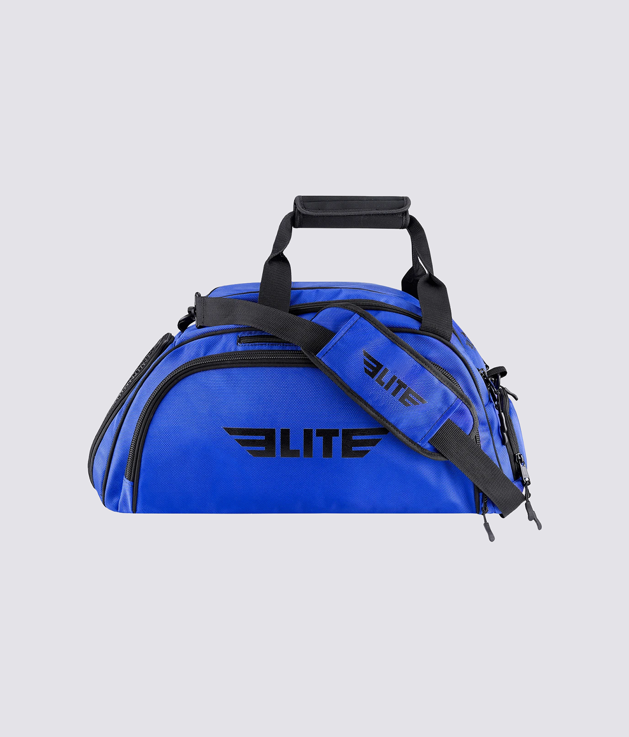 Elite Sports Warrior Series Blue Large Duffel Muay Thai Gear Gym Bag & Backpack