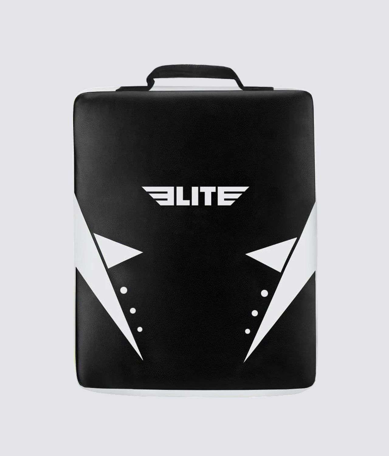 Elite Sports Black/White Muay Thai Strike Shield Kick Pad