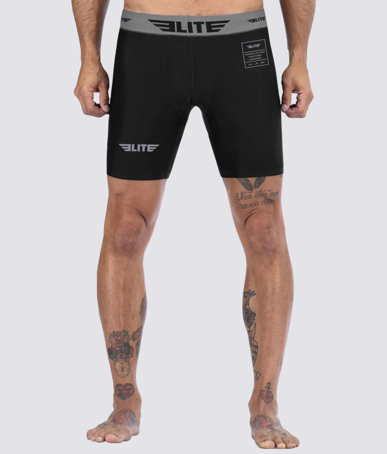 Elite Sports Black Compression Judo Shorts