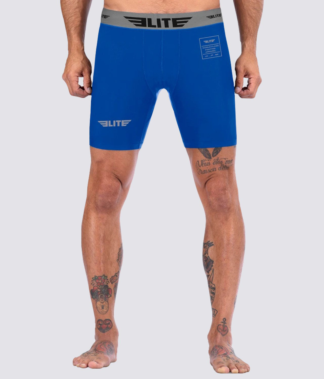 Elite Sports Blue Compression Judo Shorts