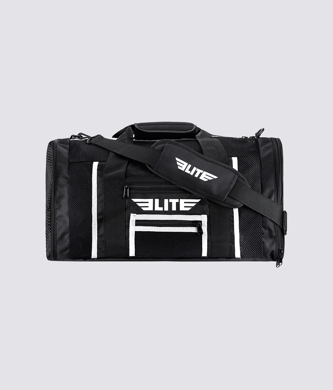 Elite Sports Mesh Black Medium Muay Thai Gear Gym Bag