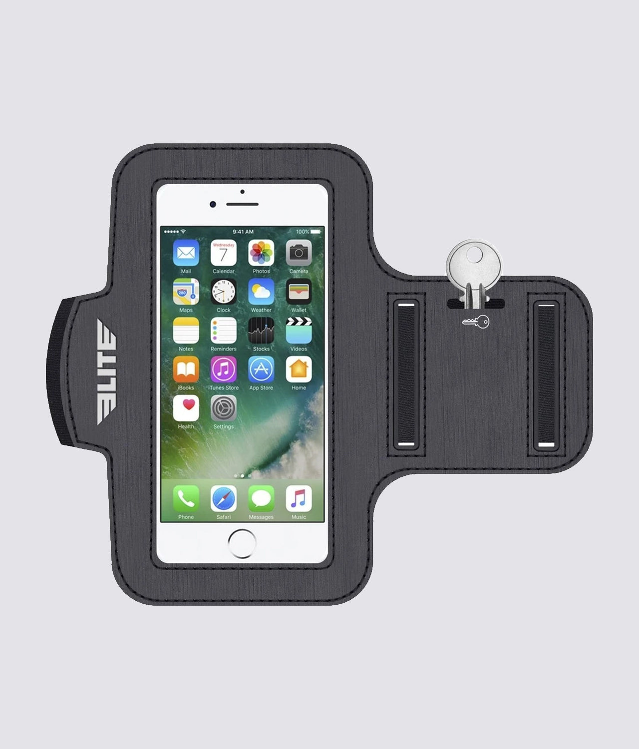 Elite Sports Lightweight Water Resistant Black Armband