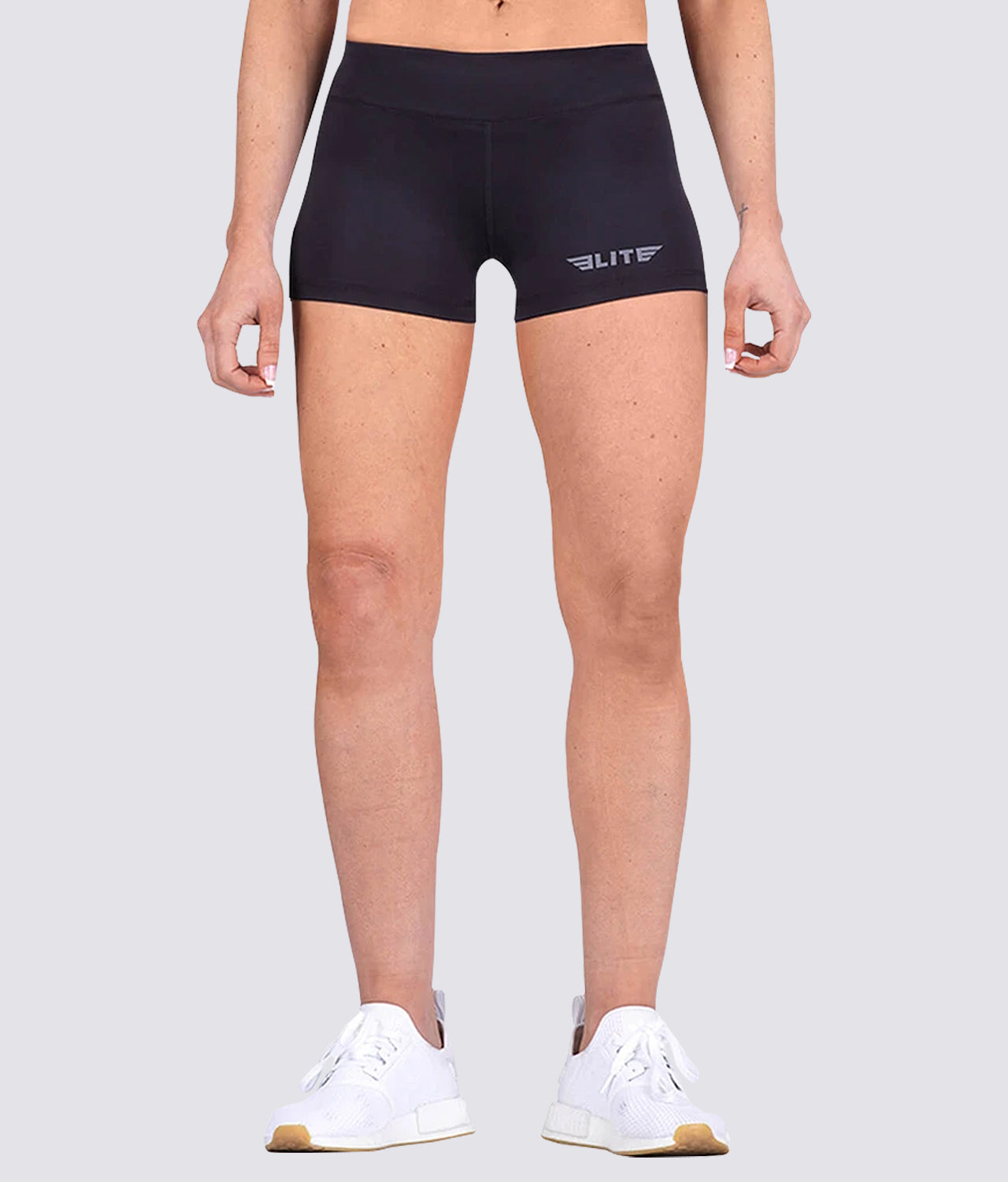 Elite Sports Extreme Softness Women Plain Black MMA Shorts