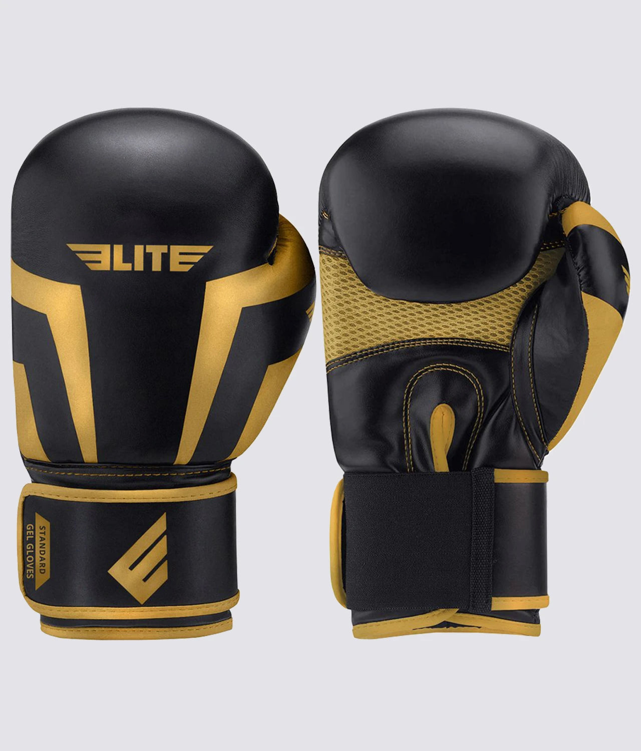 Elite Sports Standard Series Black/Gold Kids Boxing Gloves