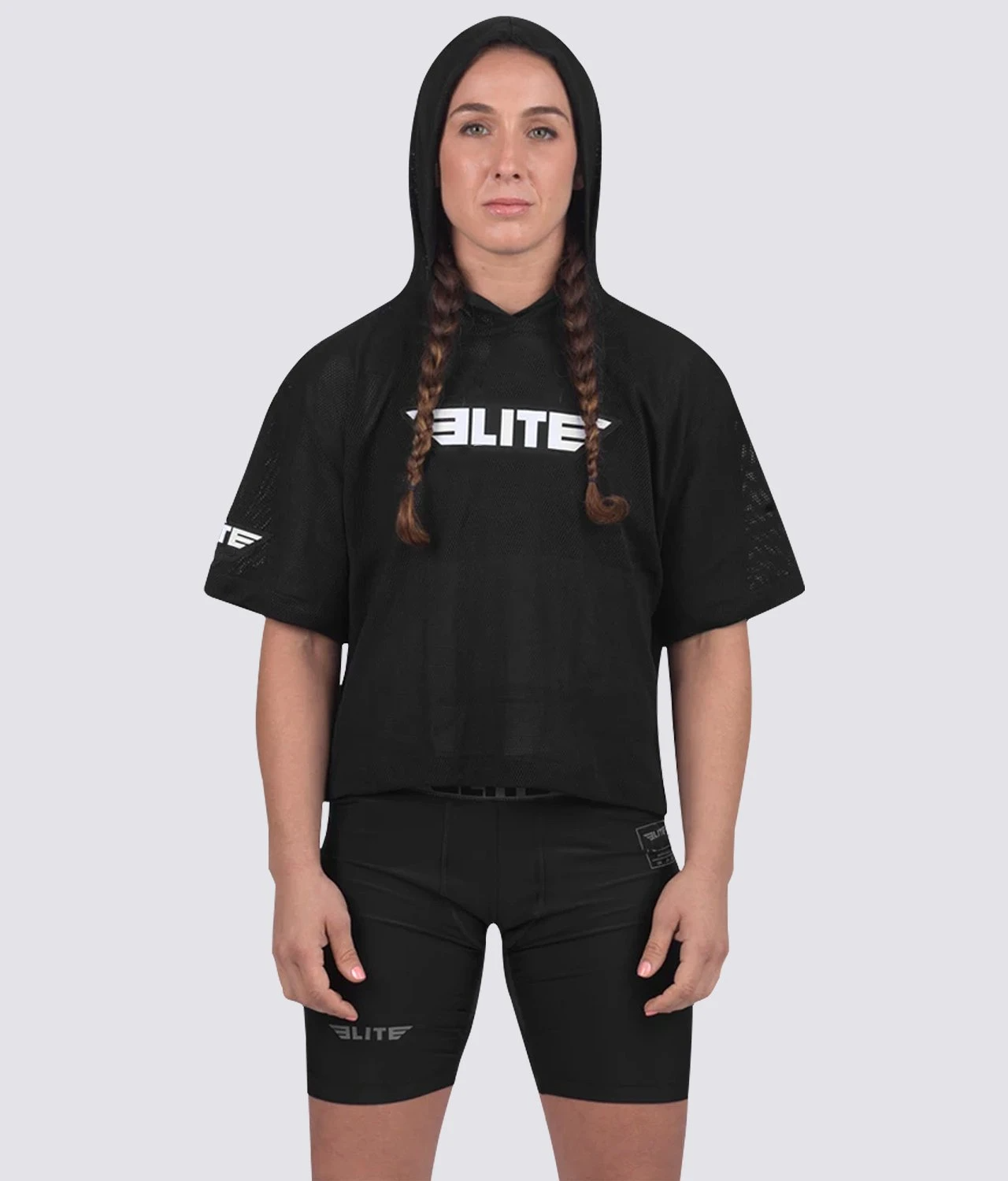 Elite Sports Visibility Black Women Training Hoodie