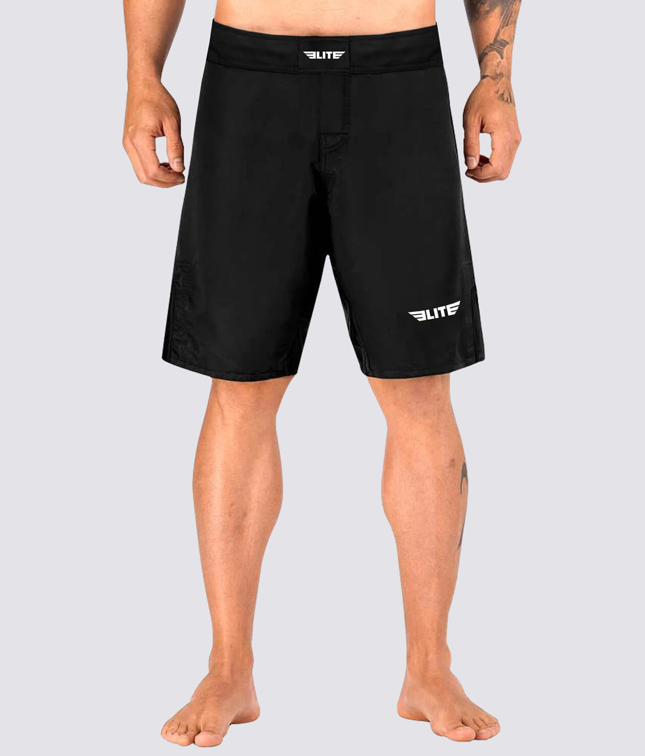 Elite Sports Black Jack Series Antibacterial Black/Black Wrestling Shorts