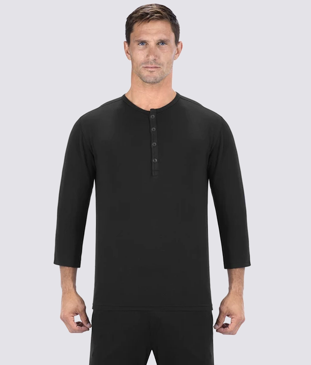 Elite Sports Soft Knit Fabric Black Sleepwear