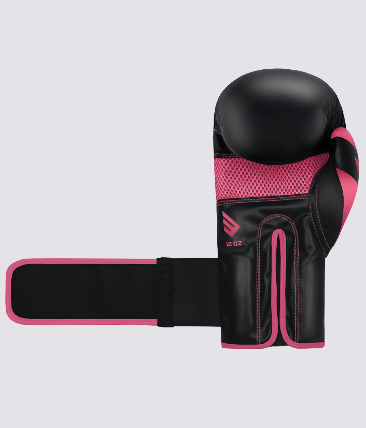 Elite Sports Standard Series Comfortable & Secure Black/Pink Adult Boxing Gloves